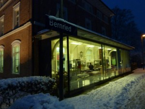 Clement Chococult's production site is housed in the former train station, Bahnhof Bernried.