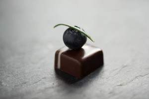 blueberry rosemary ganache